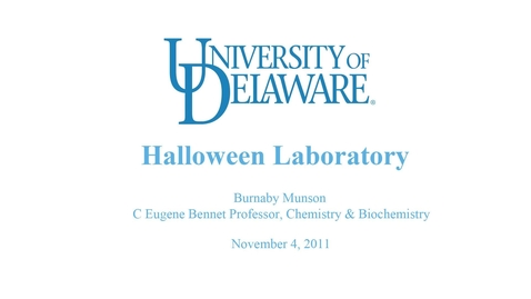 Thumbnail for entry Halloween Lab by Professor Burnaby Munson (Full).mp4