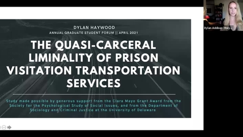 Thumbnail for entry The Quasi-Carceral Liminality of Prison Visitation Transportation Services , Dylan Haywood