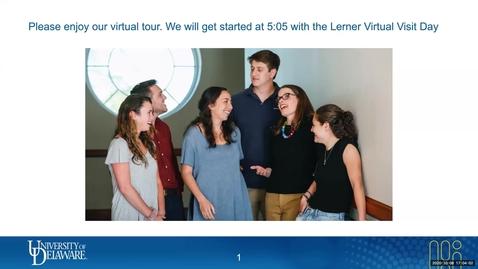 Thumbnail for entry Lerner Virtual Visit  Business Administration  10-8-2020