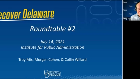 Thumbnail for entry Recover Delaware Roundtable #2