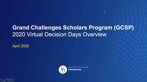 Thumbnail for entry Grand Challenges Scholars