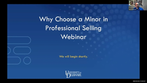 Thumbnail for entry Why Choose a Minor in Professional Selling Webinar 5.5.2020