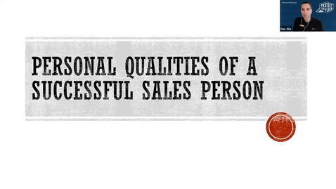 Thumbnail for entry Superstar Selling: Best personal qualities/characteristics of a sales professional Feb 26, 2021