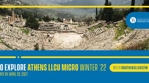 Thumbnail for entry 22W Athens LLCU - micro