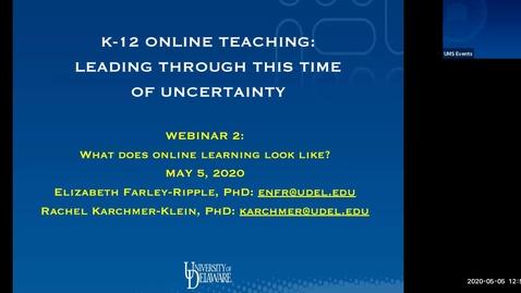 Thumbnail for entry K-12 Online Learning (2)