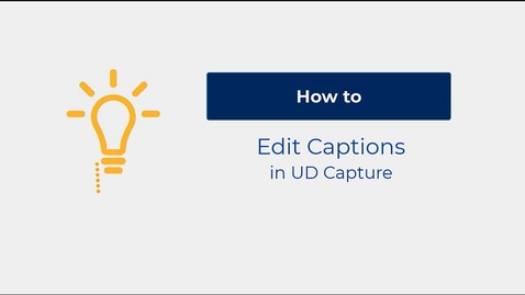 Thumbnail for entry How to Edit Captions