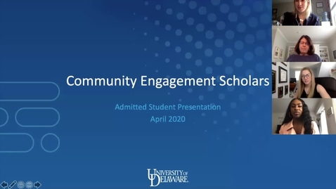 Thumbnail for entry Community Engagement Scholars