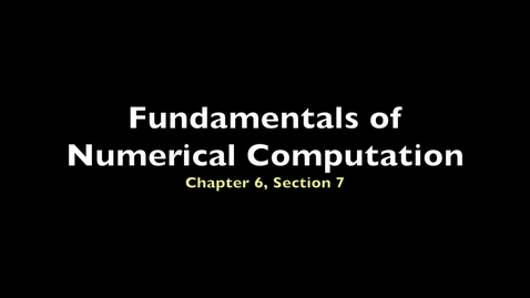 Thumbnail for entry FNC 6.7: Implementation of multistep methods