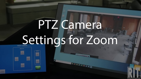 Thumbnail for entry Adjusting PTZ Cameras
