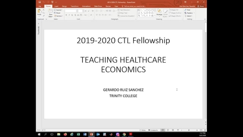 Thumbnail for entry Teaching Healthcare Economics