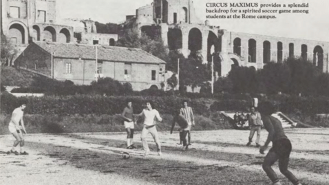 Thumbnail for entry Playing soccer at Circo Massimo
