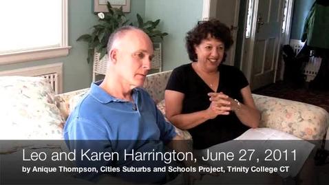 Thumbnail for entry Leo & Karen Harrington, Oral History Interview on Sheff v. O'Neill, June 27, 2011