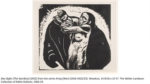 Thumbnail for entry The Sacrifice (1922) by Kathe Kollwitz