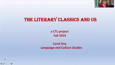 Thumbnail for entry The Literary Classics and Us