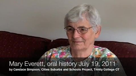 Thumbnail for entry Mary Everett, Oral History Interview, July 19, 2011