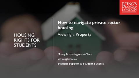 Thumbnail for entry How to Navigate Private Sector Housing Part 2 - Viewing a Property