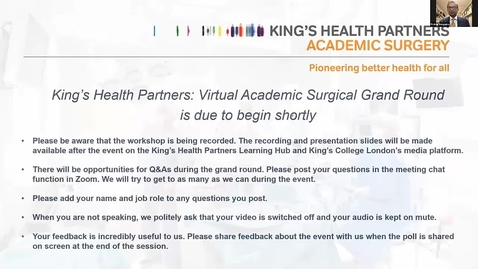 Thumbnail for entry Surgical Academy grand round Aug 2021
