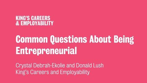 Thumbnail for entry Common Questions About Being Entrepreneurial