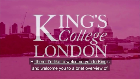 Thumbnail for entry King's Counselling and Mental Health Overview