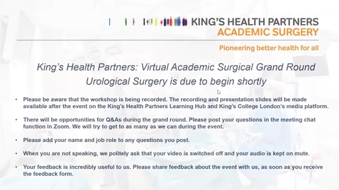 Thumbnail for entry Surgical Academy Grand Round 28/01/21