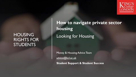 Thumbnail for entry How to Navigate Private Sector Housing Part 1 - Beginning your search