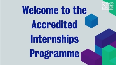 Thumbnail for entry Accredited Internships Programme