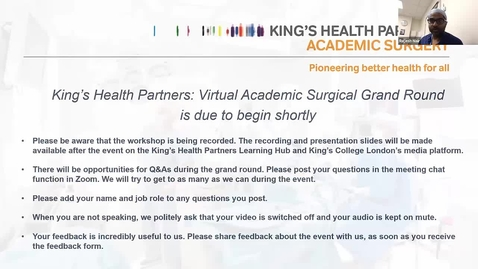 Thumbnail for entry Surgical Academy Grand Round June 2021