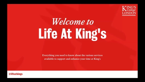 Thumbnail for entry Life at King's - Introduction (Part 1)