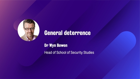 Thumbnail for entry General deterrence