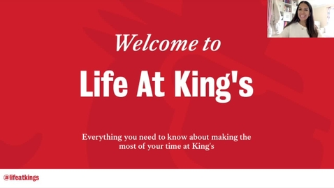 Thumbnail for entry Getting Started (Video 1) - Life at King's
