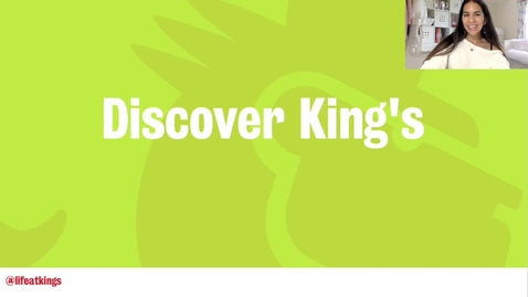 Thumbnail for entry Discovering King's (Video 3) - Life at King's