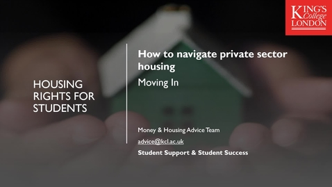 Thumbnail for entry How to Navigate Private Sector Housing Part 4 - Moving In!