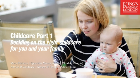 Thumbnail for entry Childcare Part 1 - Finding the right childcare for you and your family