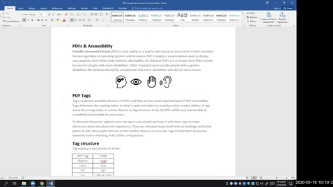 Thumbnail for entry Intro to PDF Accessibility