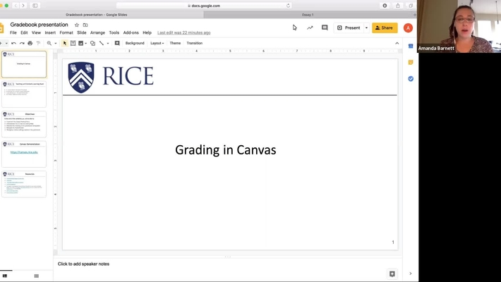 Grading in Canvas
