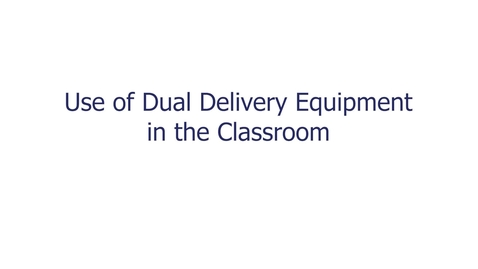 Thumbnail for entry Use of Dual Delivery Equipment v2.0