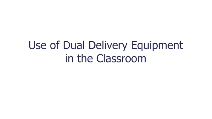 Use of Dual Delivery Equipment v2.0