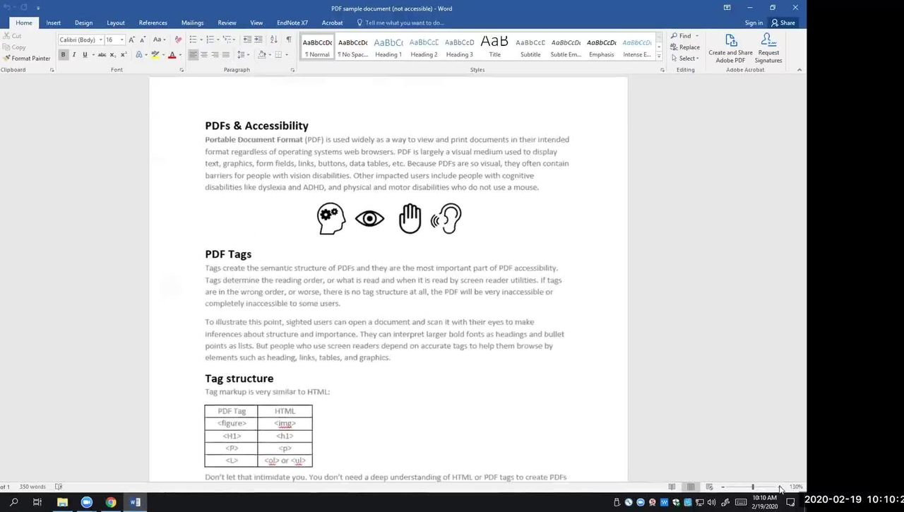 Designing Accessible Documents & PDFs