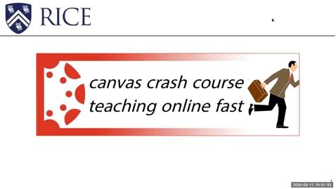 Thumbnail for entry Canvas Crash Course