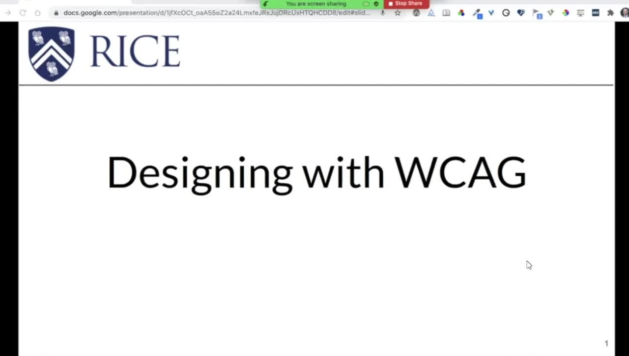 Designing with WCAG