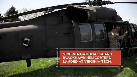 Thumbnail for entry Army ROTC cadets deploy to training exercise aboard Blackhawk helicopters