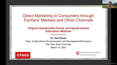 Thumbnail for entry Direct marketing to consumers through farmers' markets and other channels