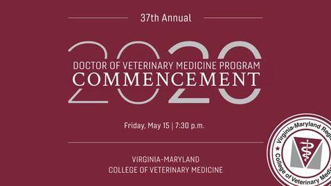 Thumbnail for entry Vet Med Commencement 2020