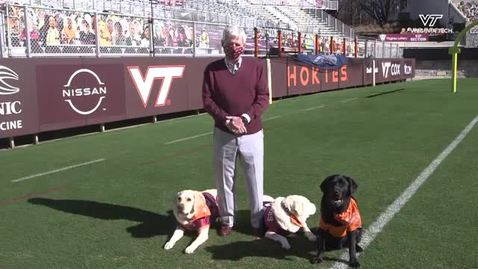 Thumbnail for entry Frank Beamer and the Virginia Tech Therapy Dogs Have a Message for You