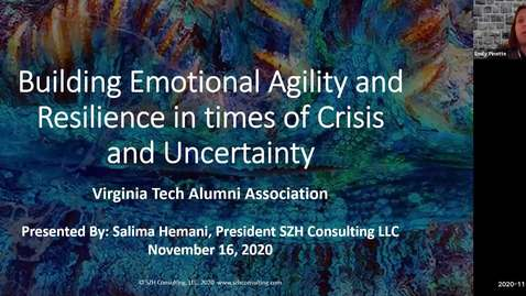 Thumbnail for entry Building Emotional Agility and Resilience in times of Crisis and Uncertainty
