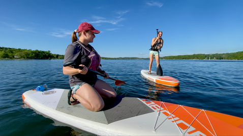 Thumbnail for entry Paddleboarding with Venture Out