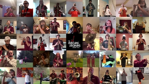 Thumbnail for entry Marching Virginians perform remote version of 'Tech Triumph'