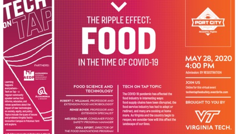 Thumbnail for entry Tech on Tap: The Ripple Effect: Food in the time of COVID-19
