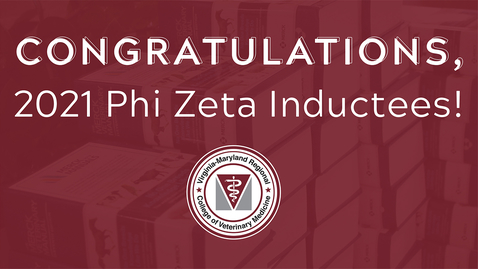 Thumbnail for entry Phi Zeta honor society induction of DVM candidates, 2021