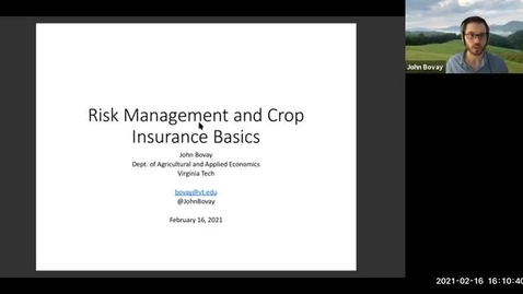 Thumbnail for entry Risk Management and Crop Insurance Basics